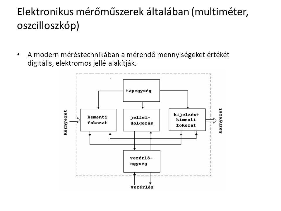 Elektronikus mérőműszerek általában (multiméter, oszcilloszkóp)