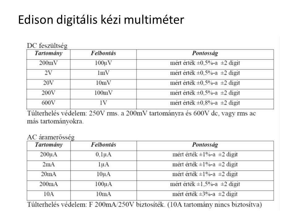 Edison digitális kézi multiméter
