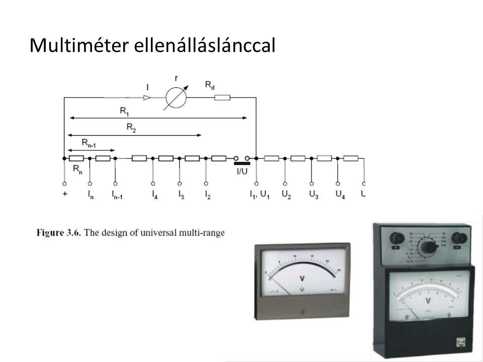 Multiméter ellenálláslánccal