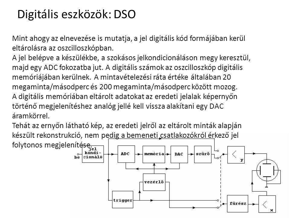 Digitális eszközök: DSO