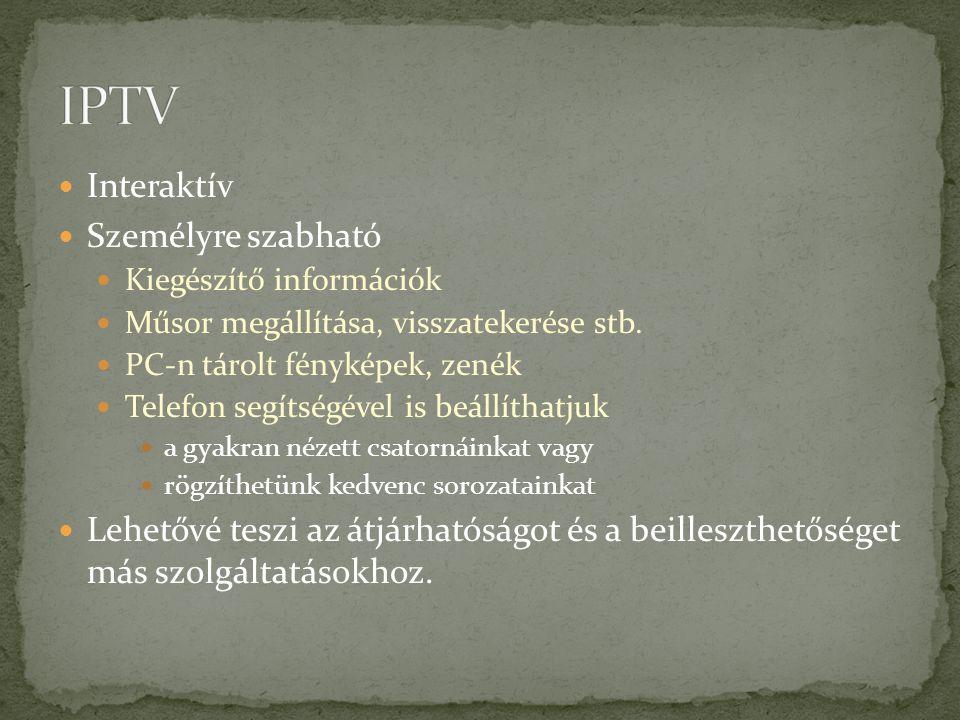IPTV Interaktív Személyre szabható