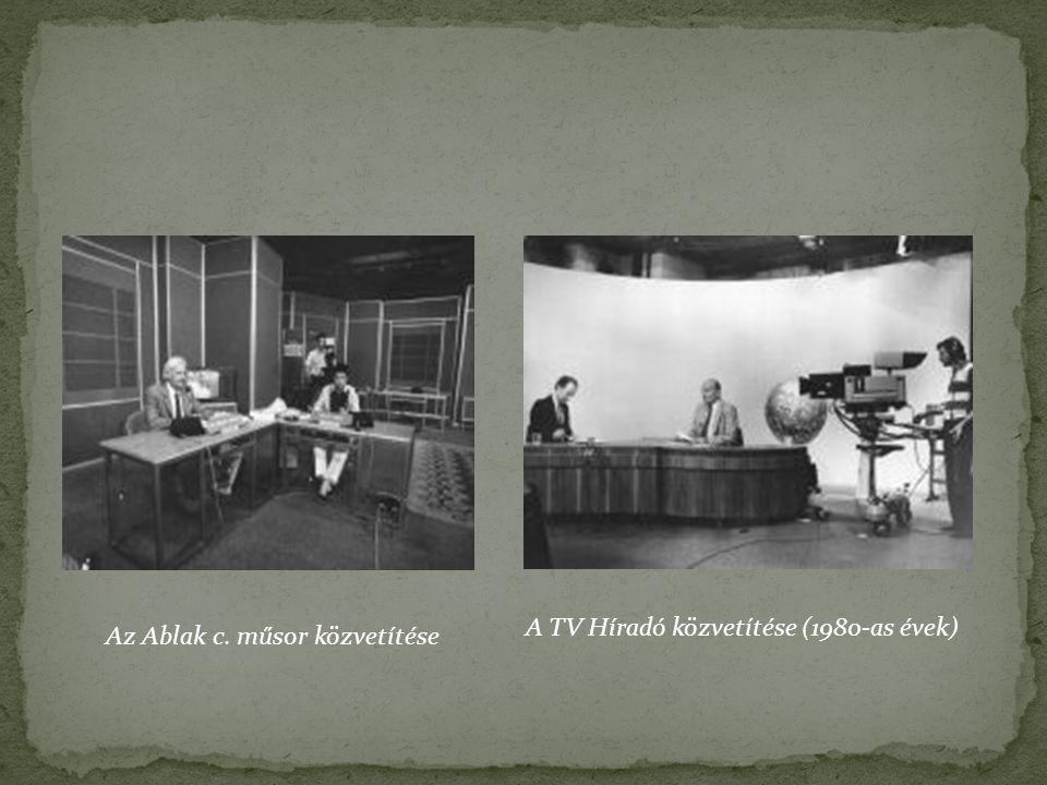 A TV Híradó közvetítése (1980-as évek)
