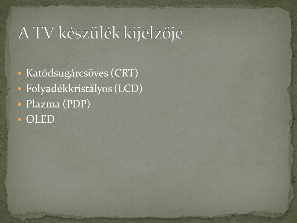 A TV készülék kijelzője