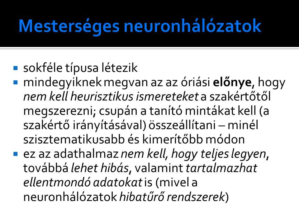 Mesterséges neuronhálózatok