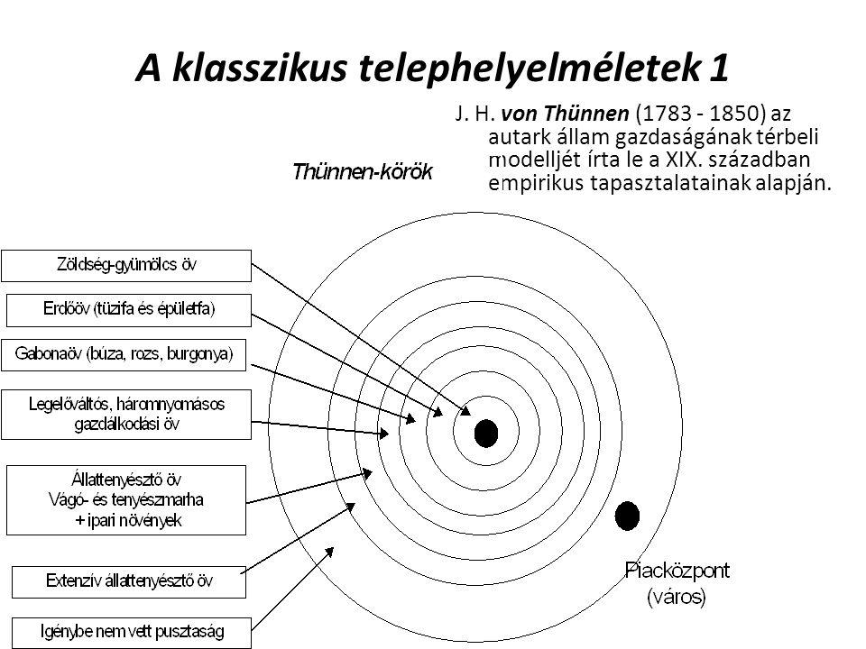 A klasszikus telephelyelméletek 1