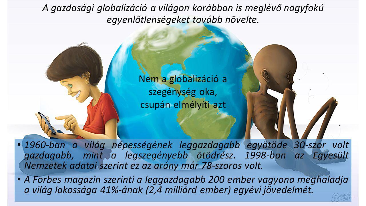 Nem a globalizáció a szegénység oka, csupán elmélyíti azt