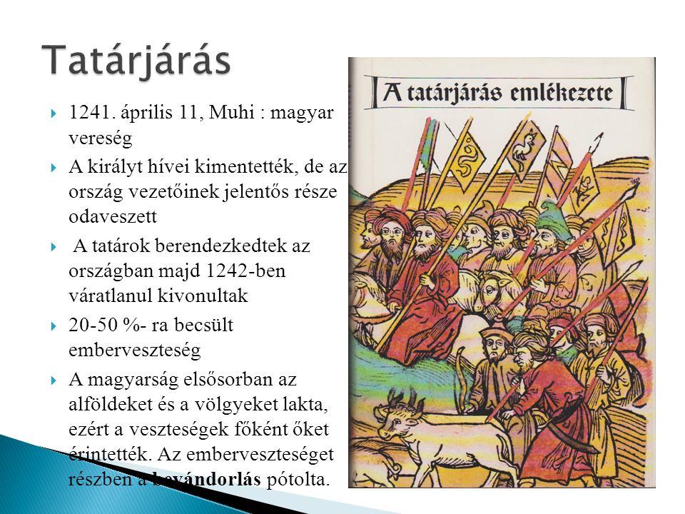 Tatárjárás 1241. április 11, Muhi : magyar vereség