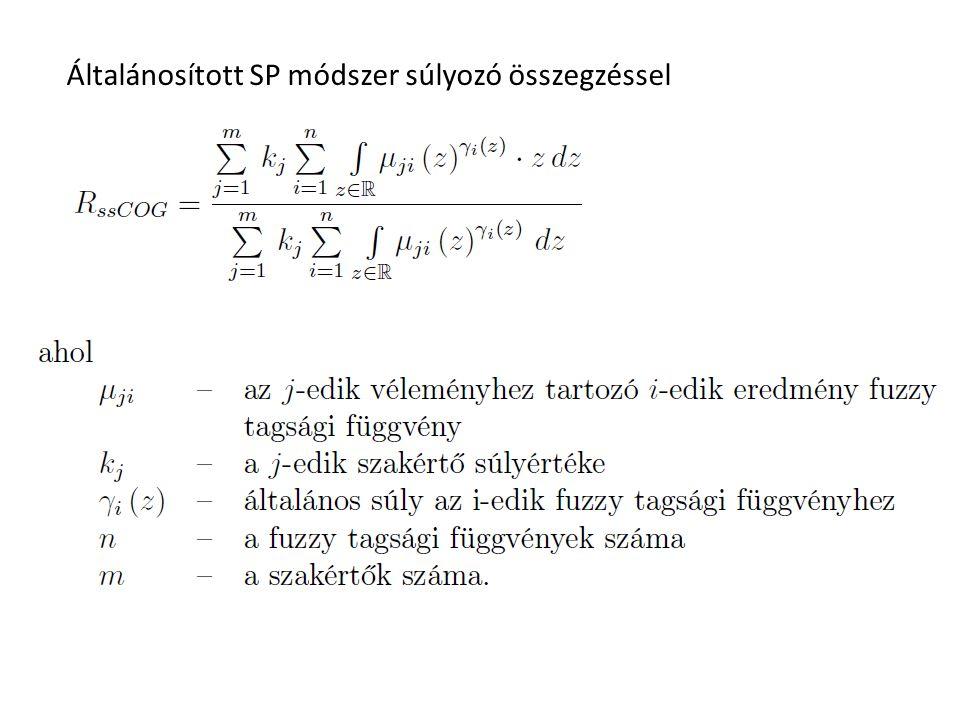 Általánosított SP módszer súlyozó összegzéssel