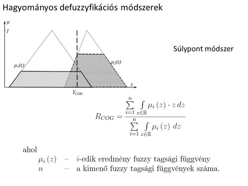 Hagyományos defuzzyfikációs módszerek