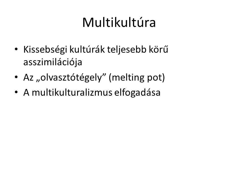 Multikultúra Kissebségi kultúrák teljesebb körű asszimilációja