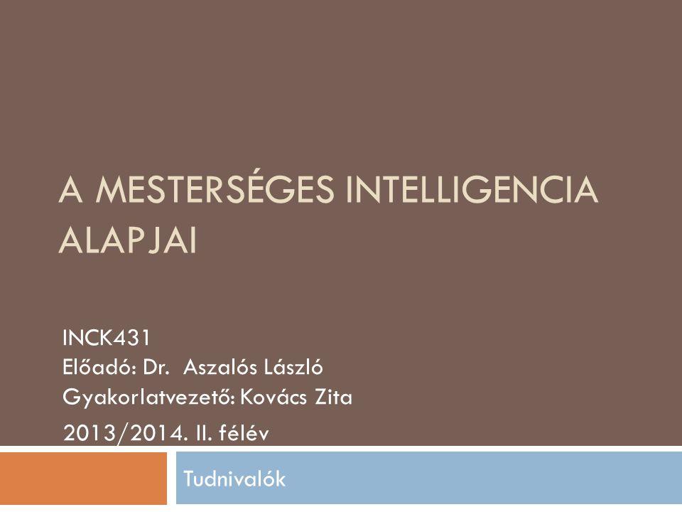 A mesterséges intelligencia alapjai