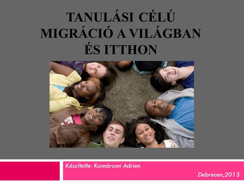 Tanulási célú migráció a világban és itthon
