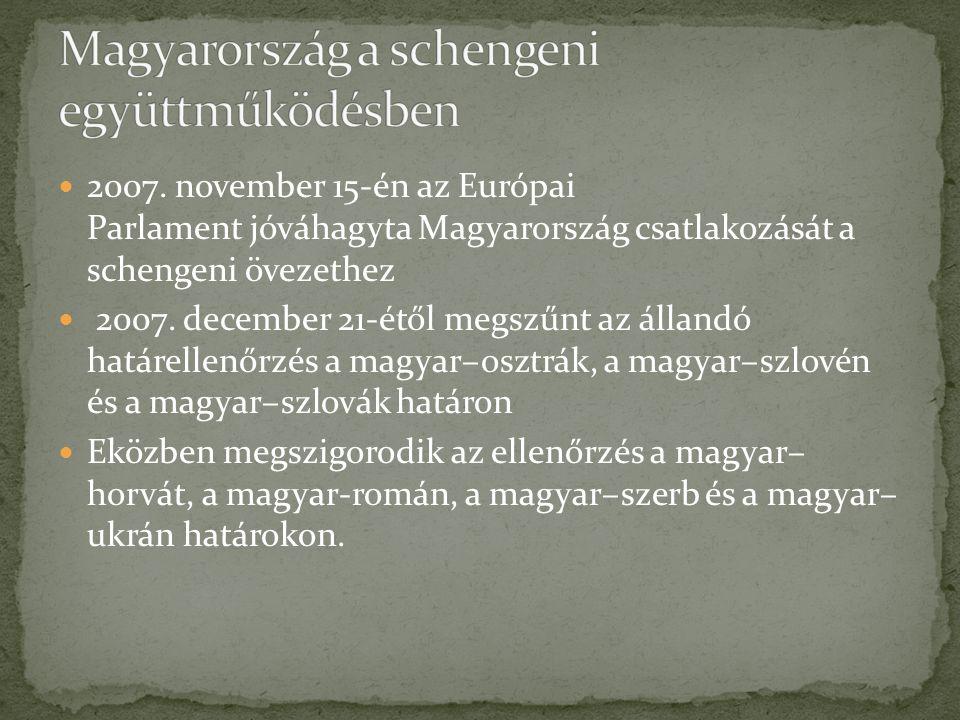 Magyarország a schengeni együttműködésben