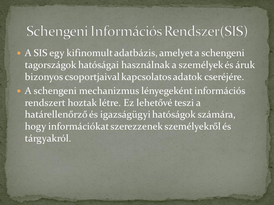 Schengeni Információs Rendszer(SIS)
