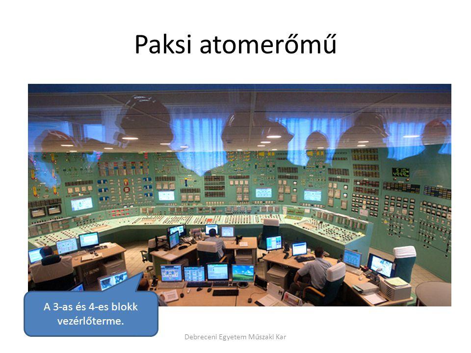 Paksi atomerőmű A 3-as és 4-es blokk vezérlőterme.