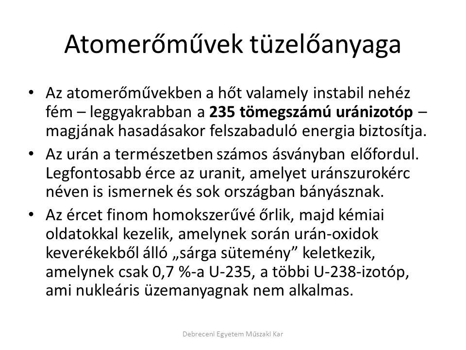 Atomerőművek tüzelőanyaga