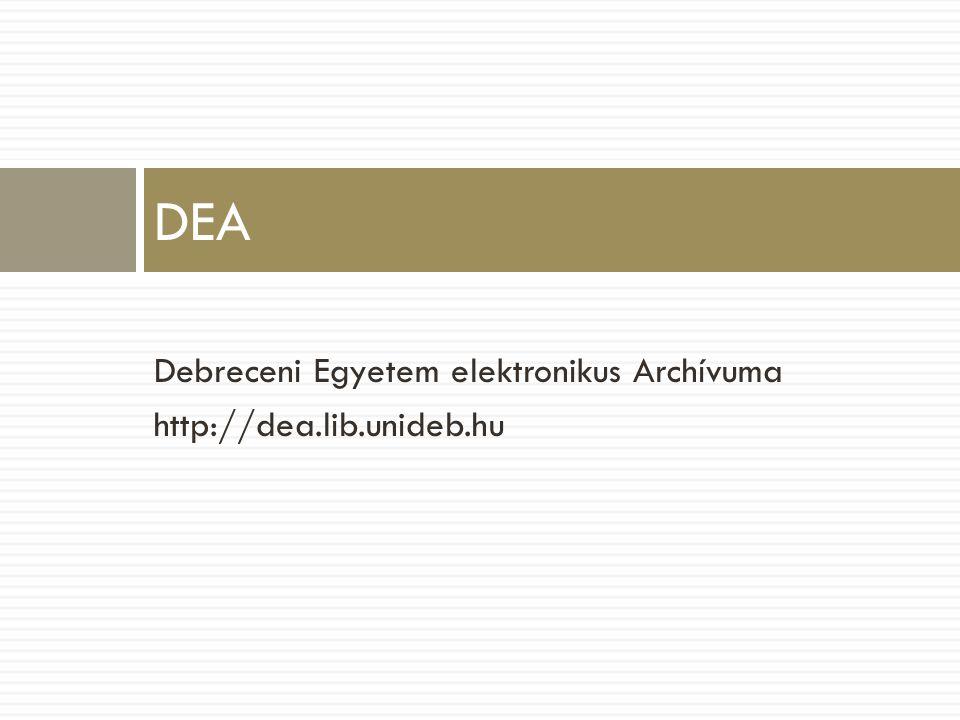 DEA Debreceni Egyetem elektronikus Archívuma http://dea.lib.unideb.hu