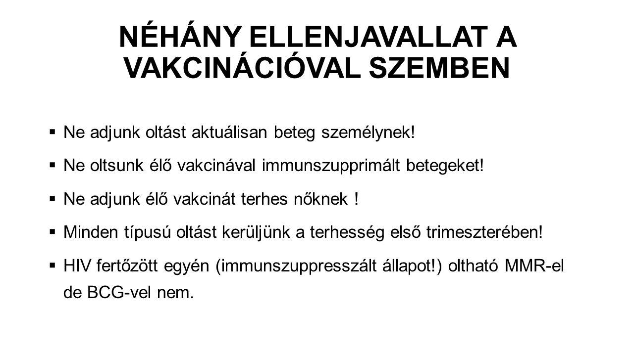 NÉHÁNY ELLENJAVALLAT A VAKCINÁCIÓVAL SZEMBEN