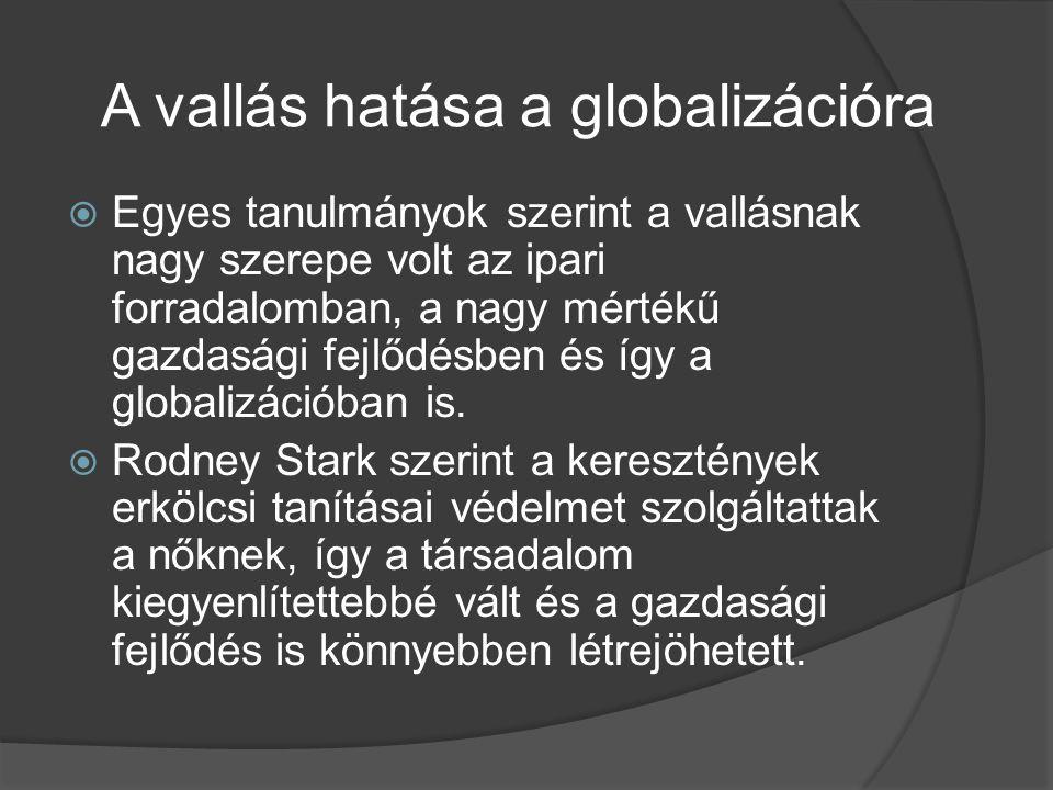 A vallás hatása a globalizációra