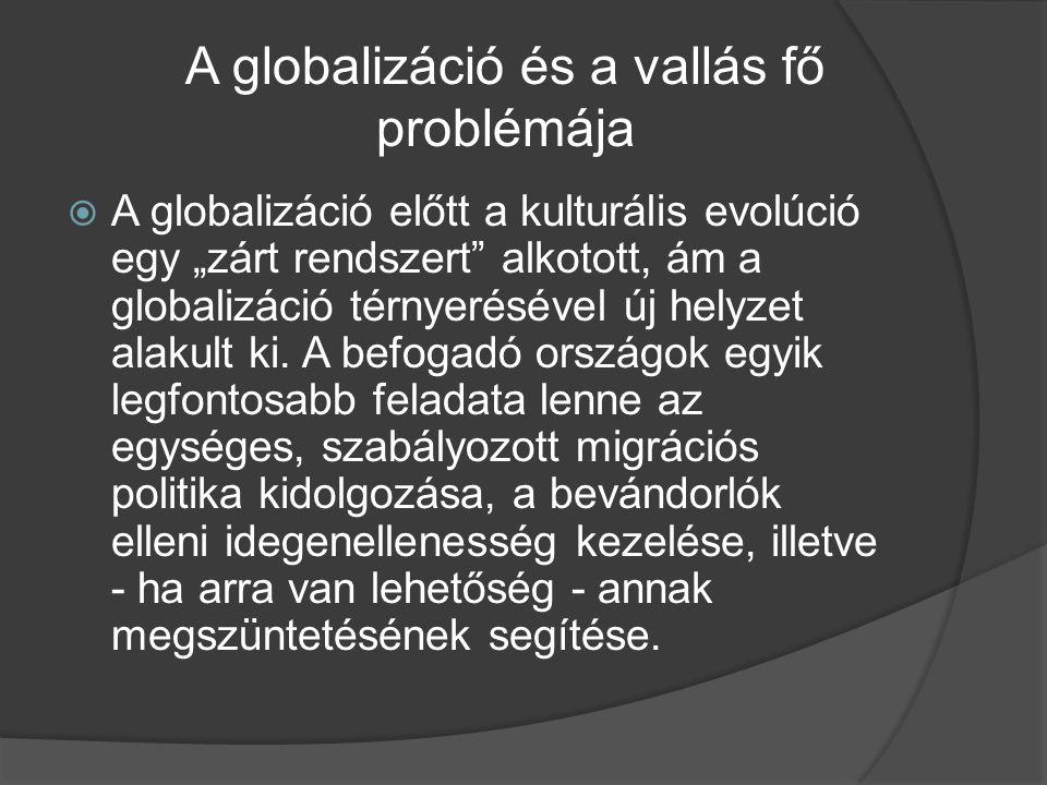 A globalizáció és a vallás fő problémája