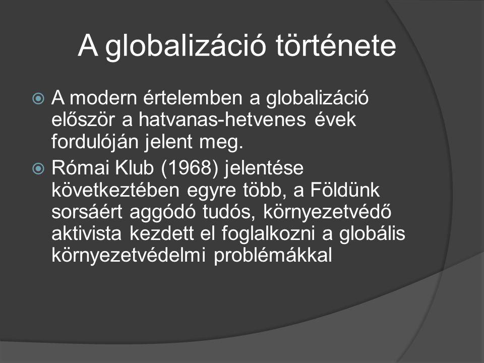A globalizáció története