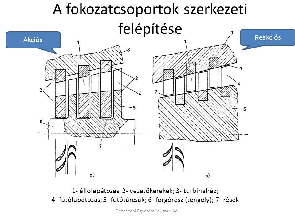 A fokozatcsoportok szerkezeti felépítése