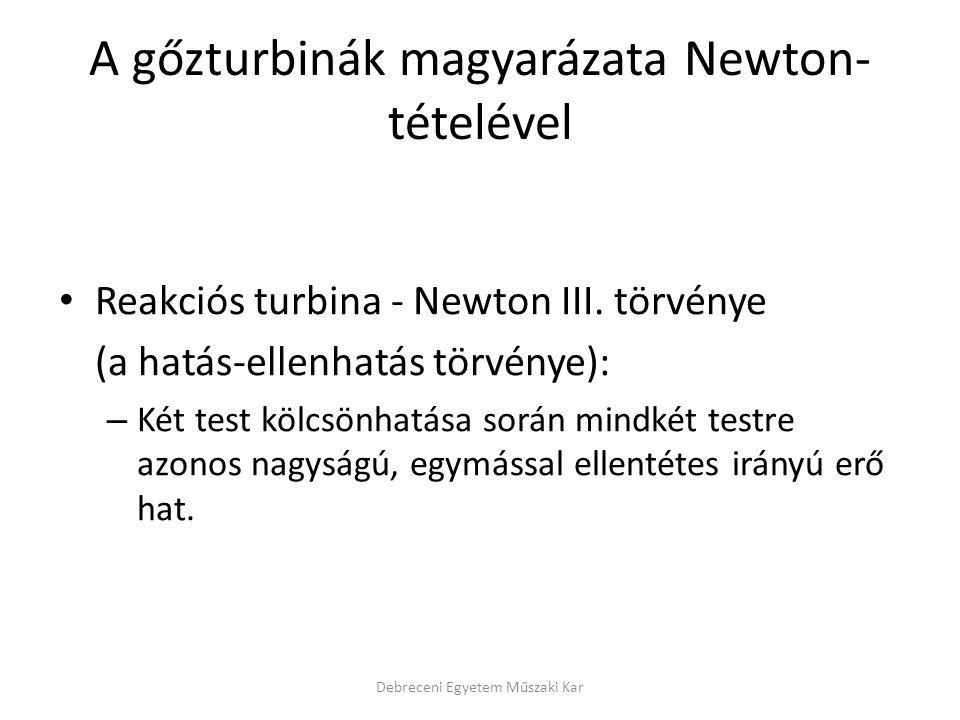 A gőzturbinák magyarázata Newton-tételével