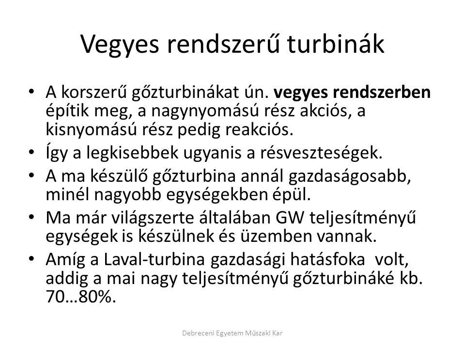 Vegyes rendszerű turbinák