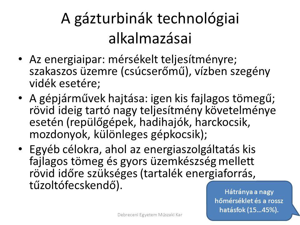 A gázturbinák technológiai alkalmazásai