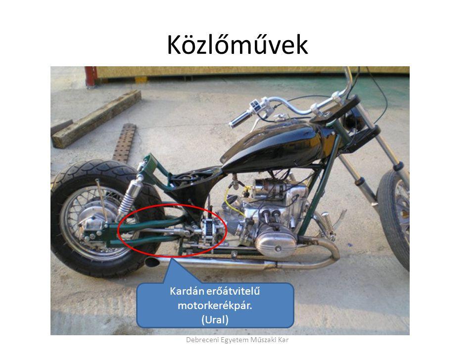 Közlőművek Kardán erőátvitelű motorkerékpár. (Ural)