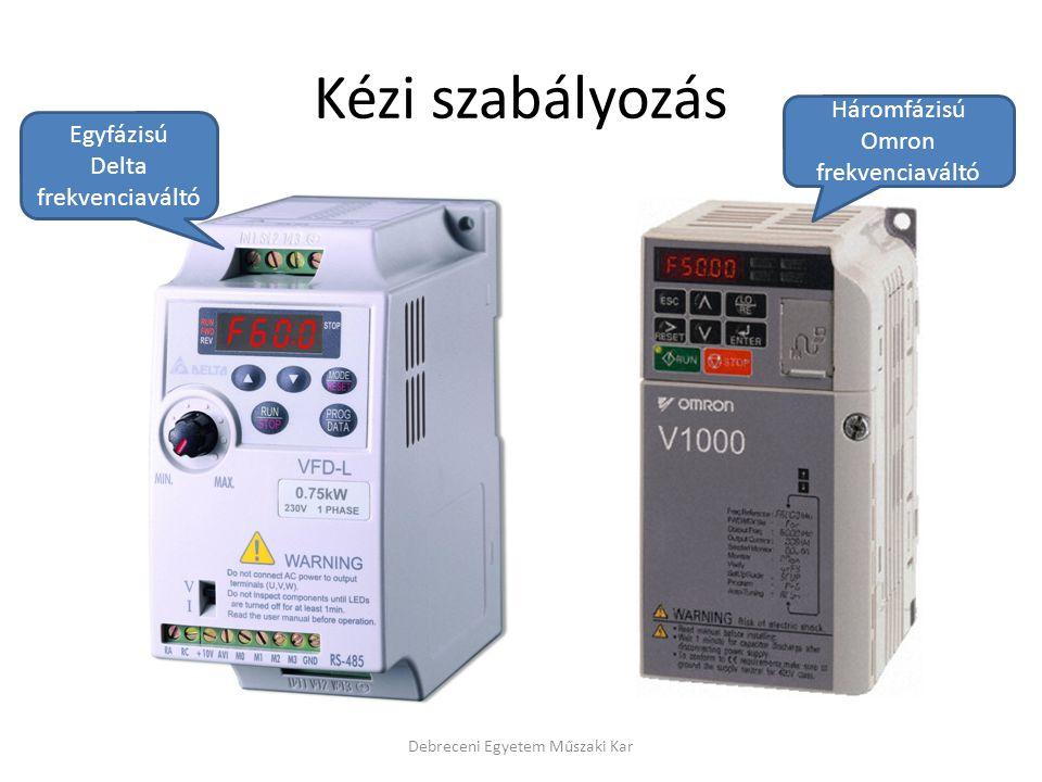 Kézi szabályozás Háromfázisú Omron Egyfázisú frekvenciaváltó