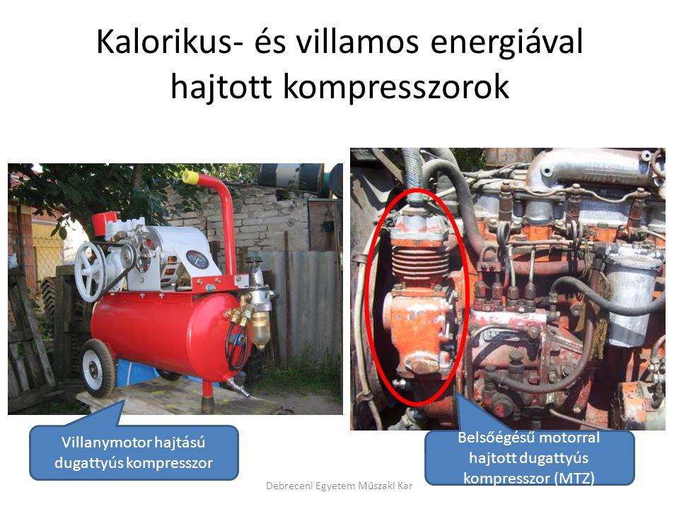 Kalorikus- és villamos energiával hajtott kompresszorok