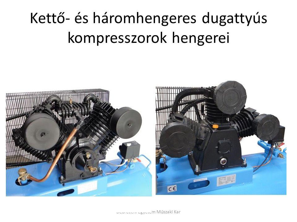 Kettő- és háromhengeres dugattyús kompresszorok hengerei