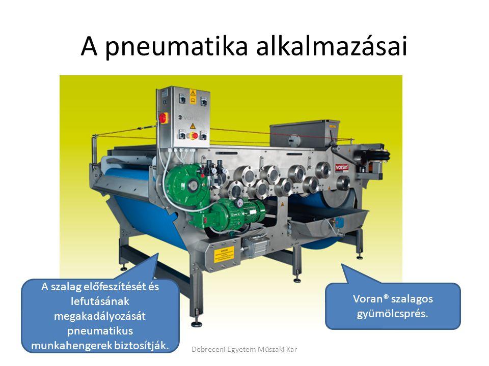 A pneumatika alkalmazásai
