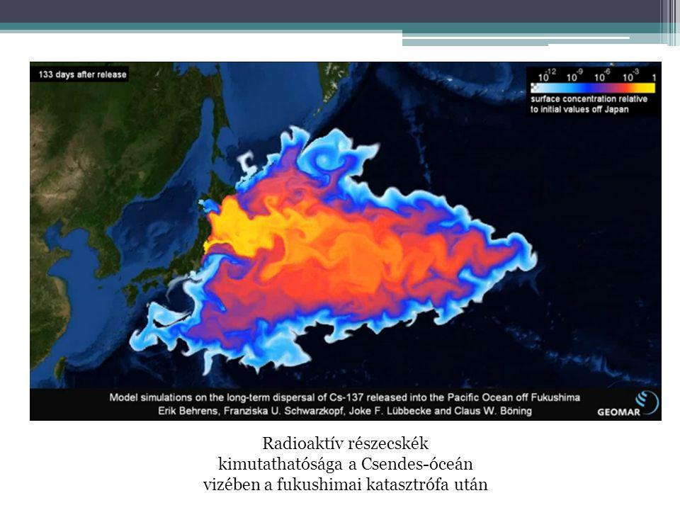 Radioaktív részecskék kimutathatósága a Csendes-óceán vizében a fukushimai katasztrófa után