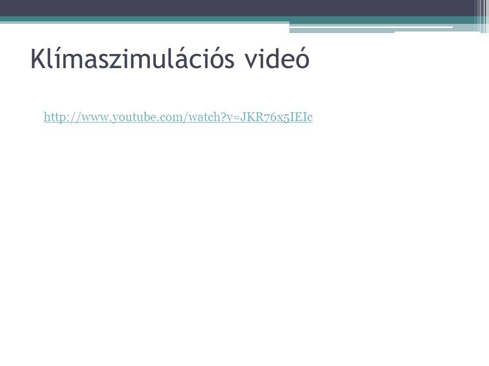 Klímaszimulációs videó