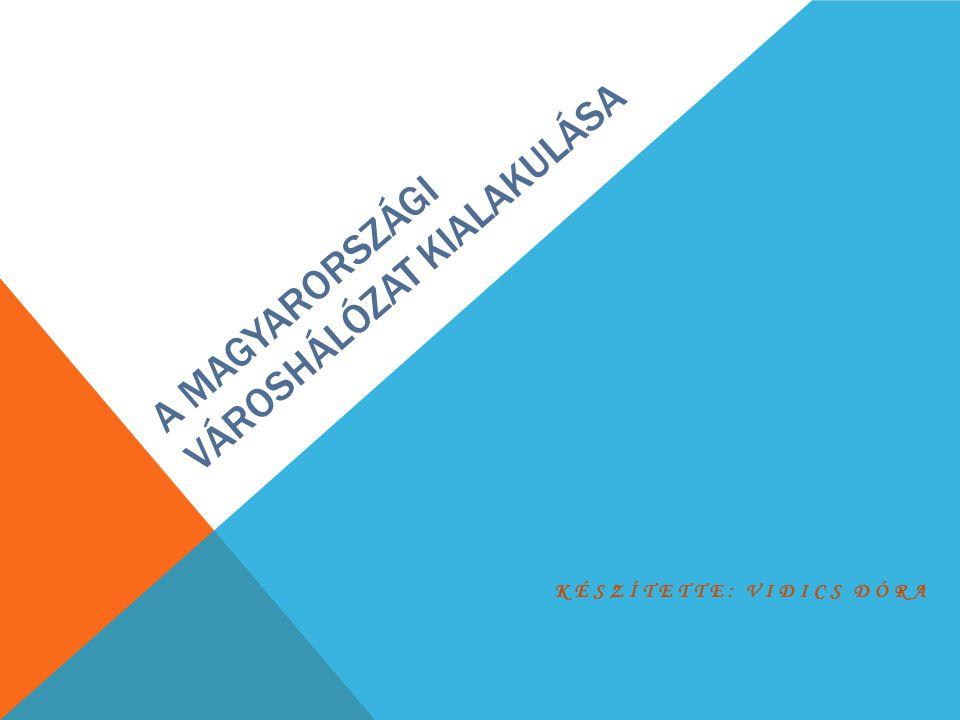 A magyarországi városhálózat kialakulása