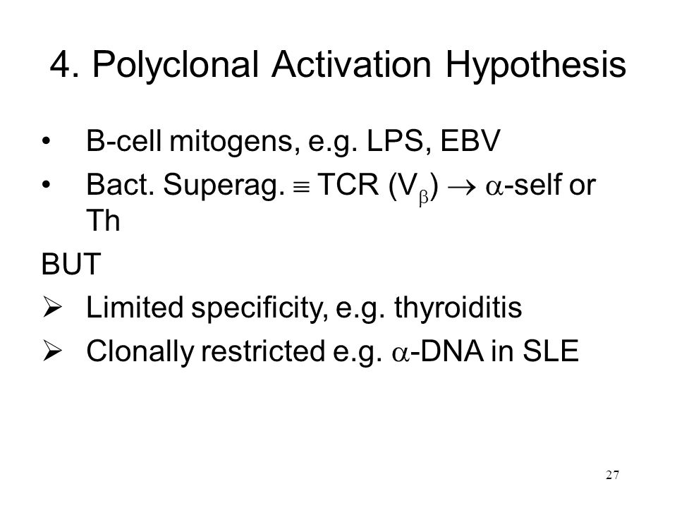 4. Polyclonal Activation Hypothesis