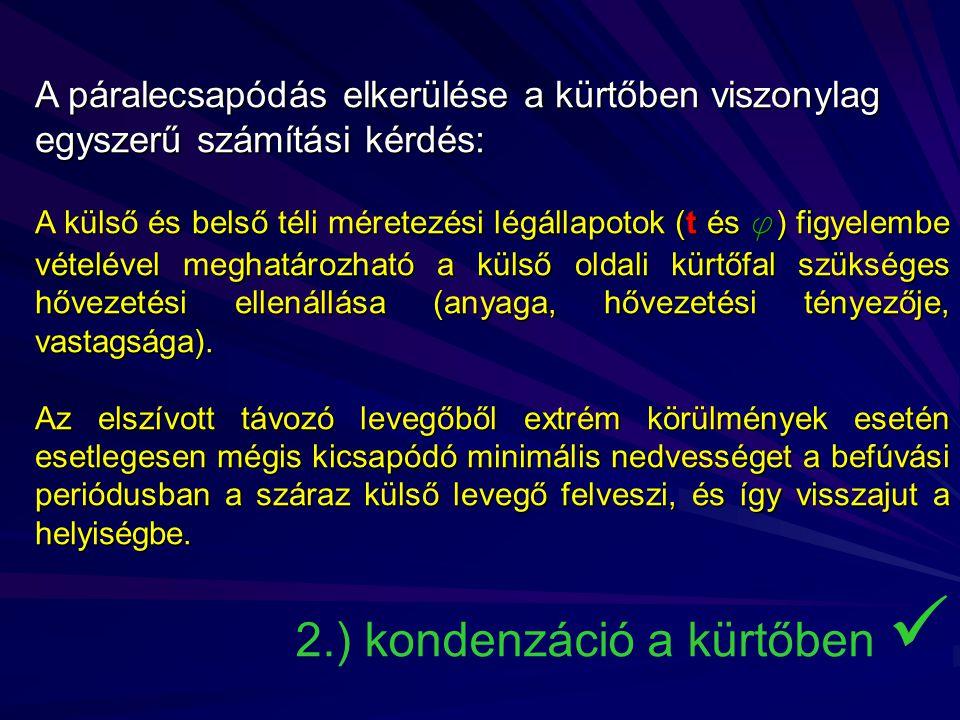 2.) kondenzáció a kürtőben 