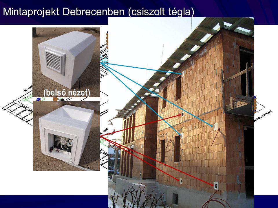 Mintaprojekt Debrecenben (csiszolt tégla)