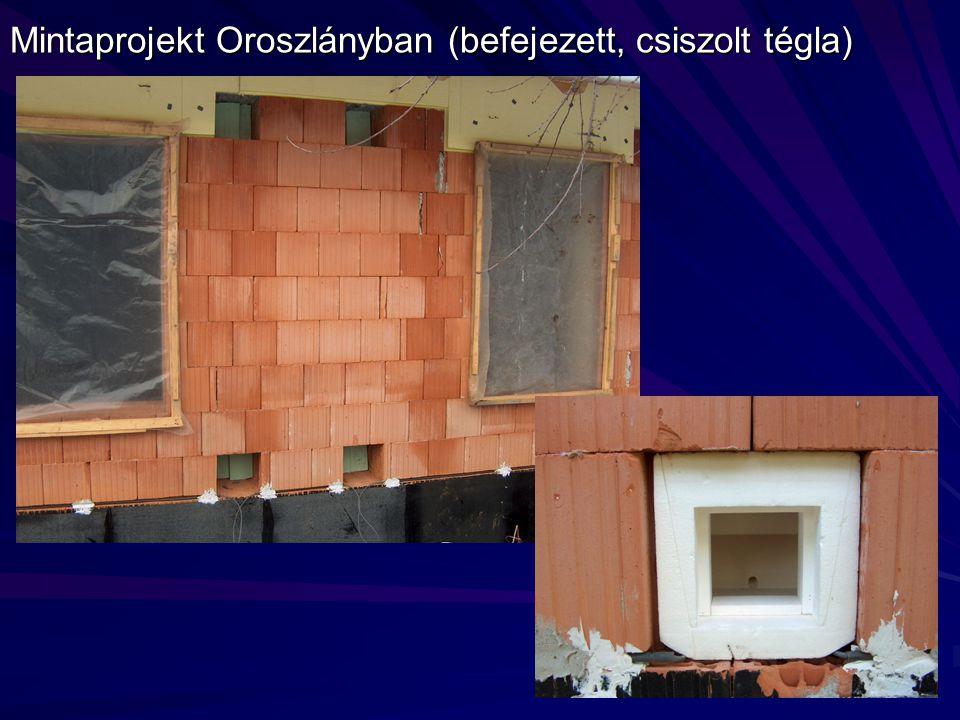 Mintaprojekt Oroszlányban (befejezett, csiszolt tégla)