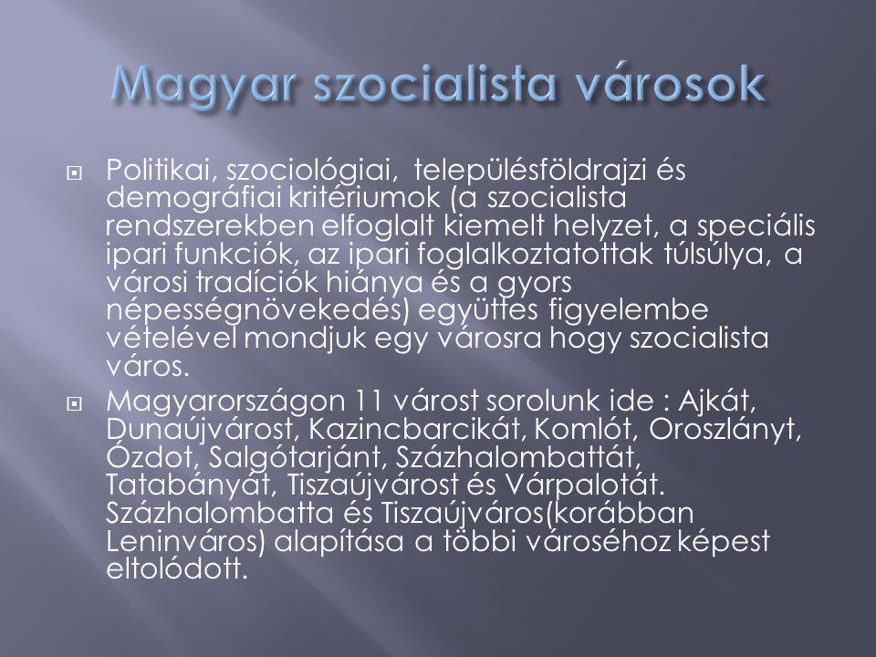 Magyar szocialista városok