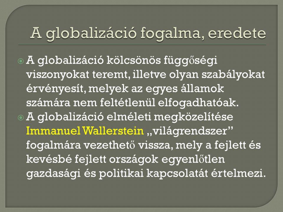 A globalizáció fogalma, eredete