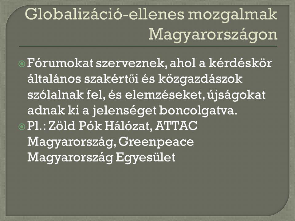 Globalizáció-ellenes mozgalmak Magyarországon