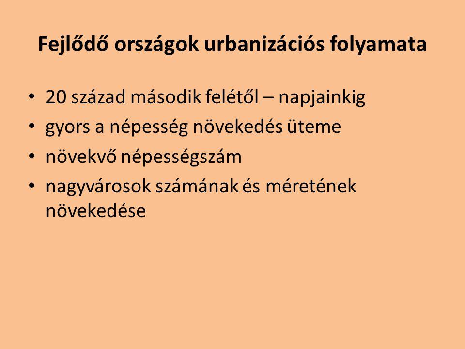Fejlődő országok urbanizációs folyamata