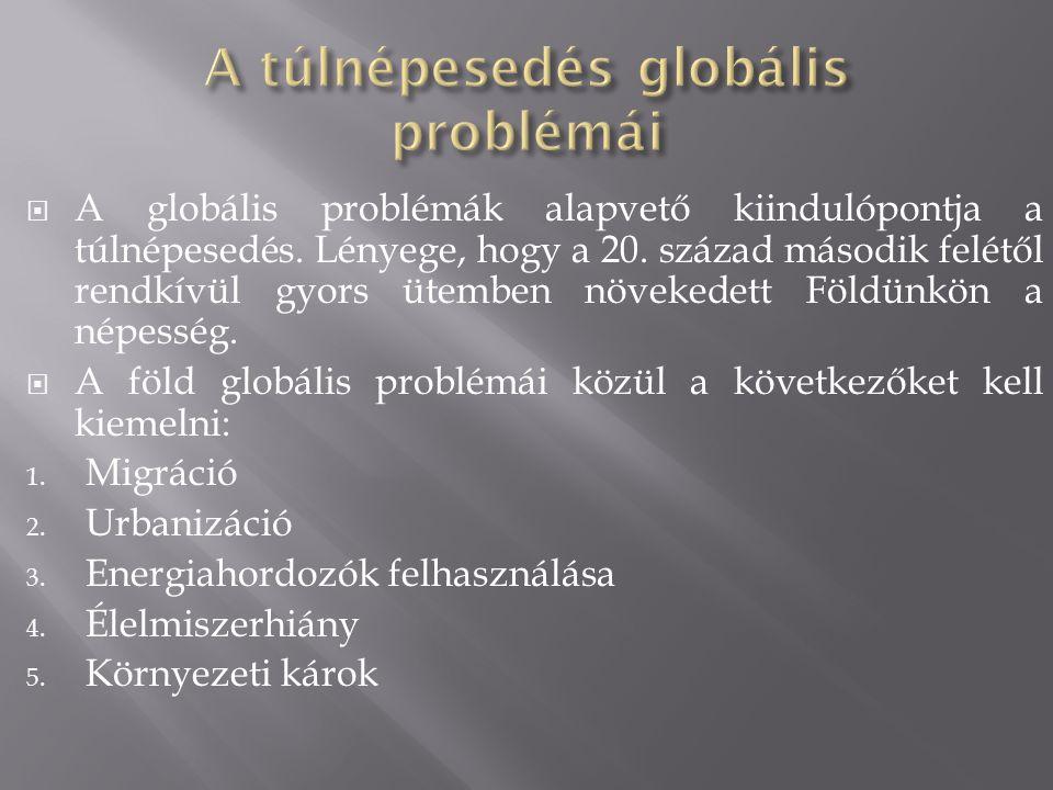 A túlnépesedés globális problémái