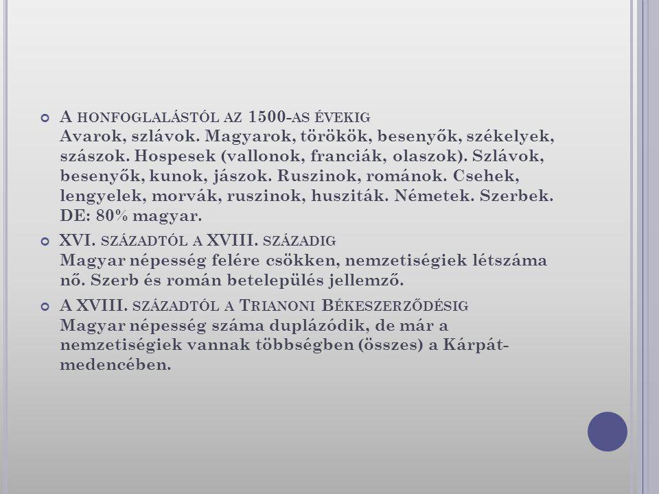 A honfoglalástól az 1500-as évekig Avarok, szlávok