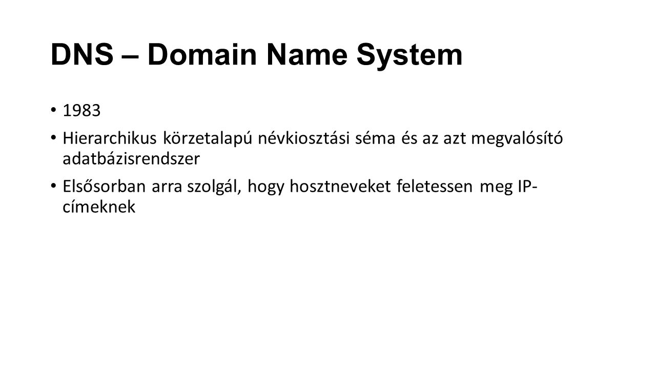 DNS – Domain Name System
