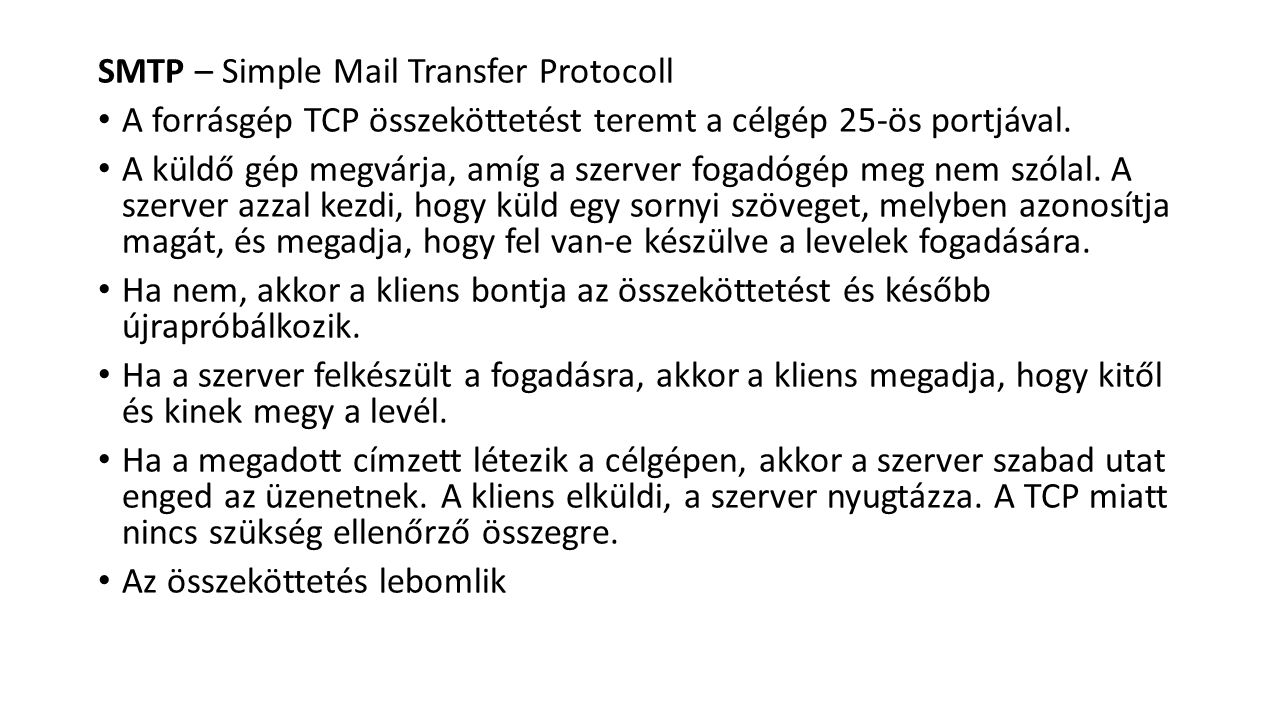 SMTP – Simple Mail Transfer Protocoll