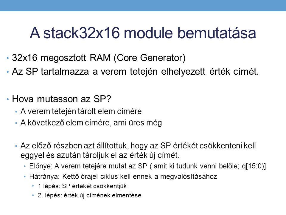 A stack32x16 module bemutatása